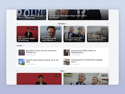 PULS24 - UI Web Design for a TV News Channel (Desktop, Part 2) news app news news design design app ui ux uiux ui design uidesign app