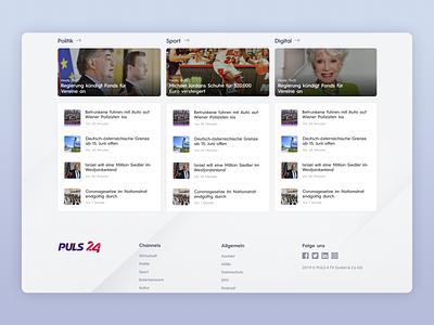 PULS24 - UI Web Design for a TV News Channel (Desktop, Part 3) news site tv app news app mobile design news design ux uiux ui design uidesign app