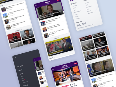 PULS24 - UI Web Design for a TV News Channel (Mobile, Part 4) streaming app news app ui streaming video app video tv tv app mobile design news site news app news design ux uiux ui design uidesign