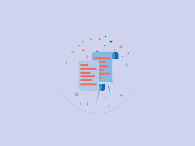 Document Illustration graphic design ux vector logo illustration app web design branding ui iconography
