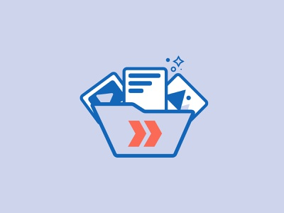 Folder with Assets app ux vector logo illustration web design ui branding iconography
