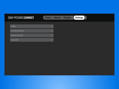 Connect app Settings appletv tvos vector logo illustration ux ui app branding web design iconography