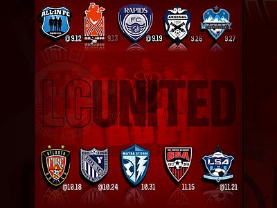 Match Schedule IG crest shield futbol design schedule instagram branding sports club graphic team soccer