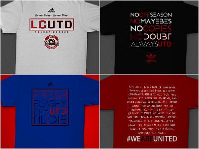 LCUTD Tees 2 apparel tee shirt futbol club shield team sports soccer design branding graphic
