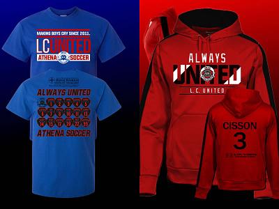 Spring 16 LCUTD branding design shield futbol club sports logo team shirts soccer apparel tees