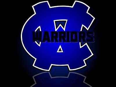 Warriors WC Logo mascot school sports branding design logo