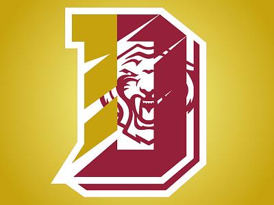 Tigers DC Logo 1 mascot school sports branding design logo