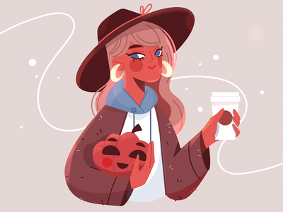 Девушка в хэллоуин хэллоуин illustration design