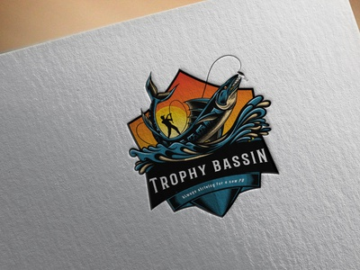 Logo Design fisherman anglerfish hunting fish logo fishing logo logos logodesign logo design logo