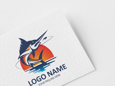 Logo Design fisherman hunting fish logo fishing logo logodesign logos logo design logo