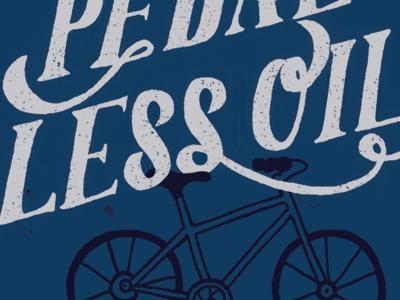 Pedal Less Oil handlettering lettering bike sticker texture