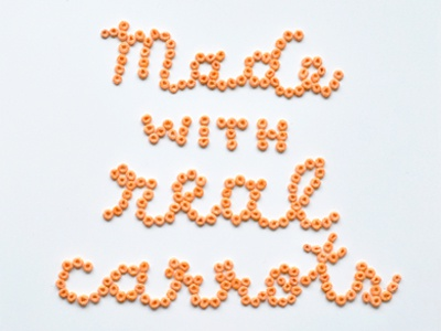Made with Real Carrots handlettering lettering food lettering cereal veggie heroes