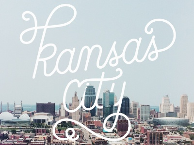 KCMO line skyline downtown royals kansas city kc kcmo lettering handlettering