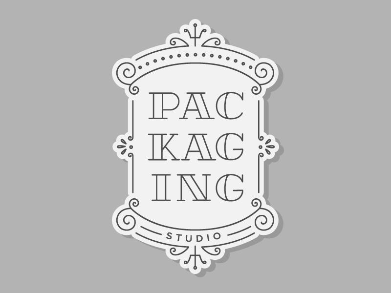 Packaging Studio lettering sign packaging studio