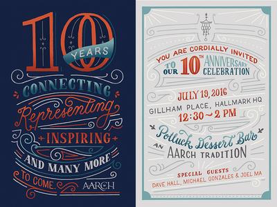 AARCH 10th Year Celebration Invitation