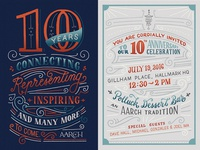 AARCH 10th Year Celebration Invitation
