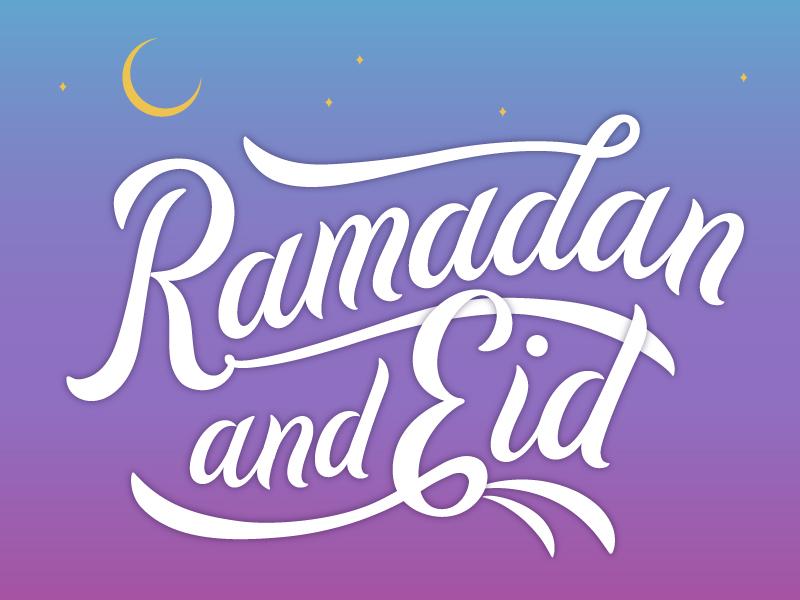 Ramadan and Eid illustration moon sunset handlettering lettering islam eid ramadan