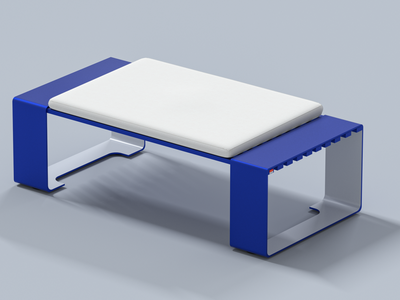 CREW BENCH 2088 designer productdesign merch product branding furniture render 3d artist design
