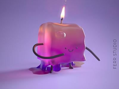 Scattering Candle Boy logo c4dfordesigners sss scattering c4d rendering render 3d artist design