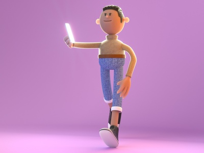 3D character - Subsurface scattering 3d illustraion blender3d blender octane
