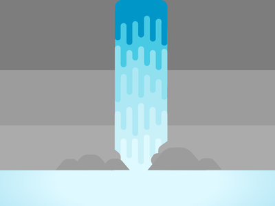 Waterfall design illustration minimal