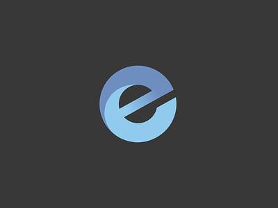 E logo minimal vector logo