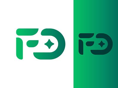 F + D green design vector branding logo design