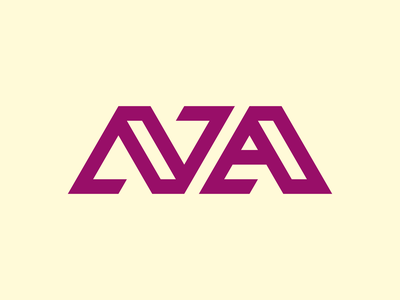 N + A branding logo typography