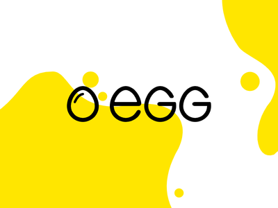 Egg logo design letters lettering minimal egg typography type vector icon