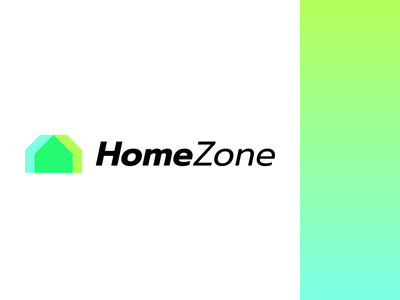 HomeZone Logo company house minimal real estate branding design logo home