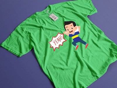 T shirt  Yeah illustration icon ui t shirt design logo design