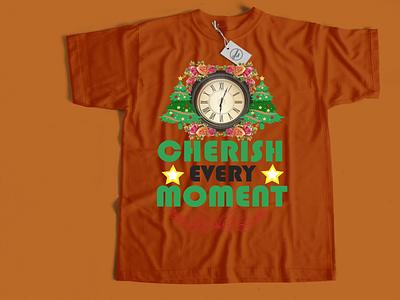 Cherish every moment t shirt design design illustration