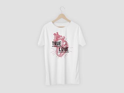 True love illustration design vector t shirt design