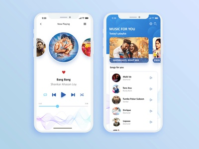 Music App Player & Playlist user inteface user experience video player video app case study music player music app music app design ui kit ux graphic design social media creative art branding graphic design illustration ui