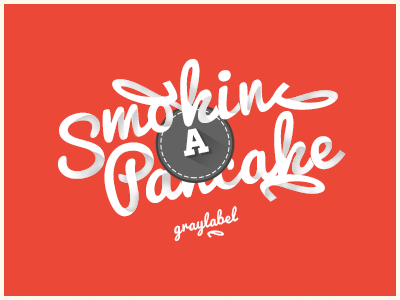 Smoking A Pancake illustration vector type typography shades shadow print digital
