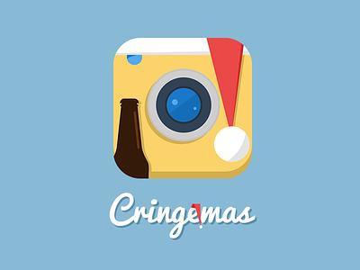 Cringemas app app icon christmas vector ios android logo identity design illustration mark santa