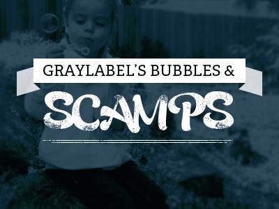 Graylabel's Bubbles & Scamps type typographic illustration design lettering fonts typefaces