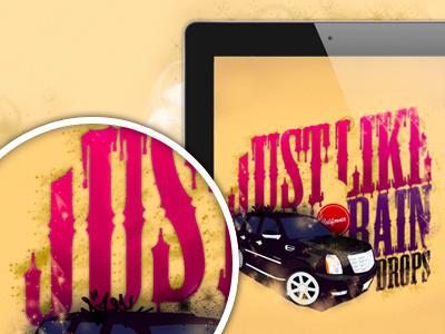 Just Like Raindrops! vector illustration illustrator california escalade ipad iphone screensaver random inspiration
