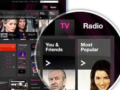 iplayer Concept ux ui design web iplayer bbc