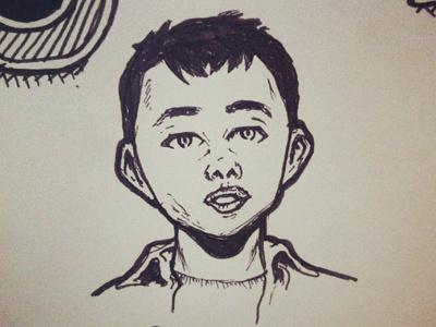 Clive illustration sketch drawing character doodle pen ink pencil random