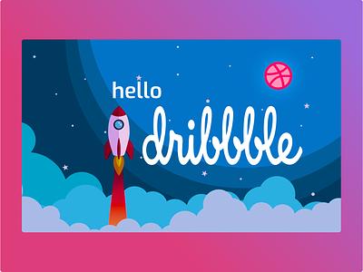 Hello Dribbble! uxdesign debutshot design uidesing welcome shot welcome hello dribbble hellodribbble first shot hello dribble debut firstshot