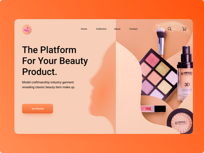 Beauty Products Web UI Concept website design girls fashion beauty clinic ux cosmetic skin care landing page design uxdesign beauty product ui makeup beauty