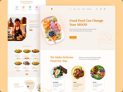 Restaurant Website Exploration branding food app vegitable restaurants app uiux design food minimal minimalist fresh resturant webdesign design uiux ui website clean