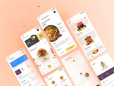 Food Delivery App UI Design app ios platform e-commerce order shopping store food delivery food app product service delivery app grocery delivery grocery design card clean minimal app design mobile app design