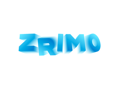 Zrimo movement music video 3d type motion blur logo design logotype logo