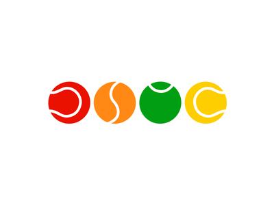 JSTC initials ball tennis sport identity branding logo design logotype logo