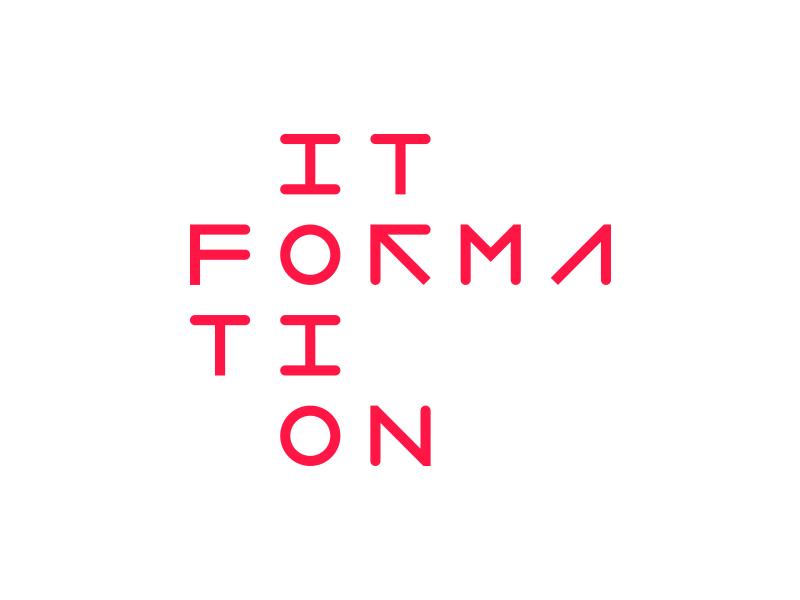 ITFormation code programming one null 1 0 bit identity branding logo design logotype logo