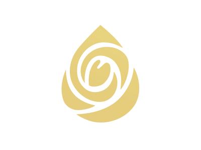 Fragrance Oils gold oil drop rose perfumery fragrance identity branding logo design logotype logo