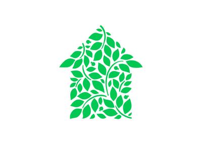 GardenWorks home house tree herb landscaping garden leaf identity branding logo design logotype logo