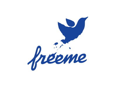 Freeme blot bird debt finance logotype logo identity branding